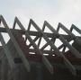 Wywiązana więźba dachowa.